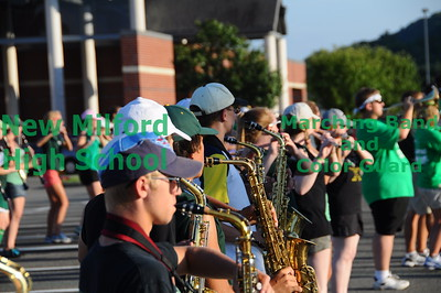 New Milford High School Marching Band at Band Camp, August 20, 2010