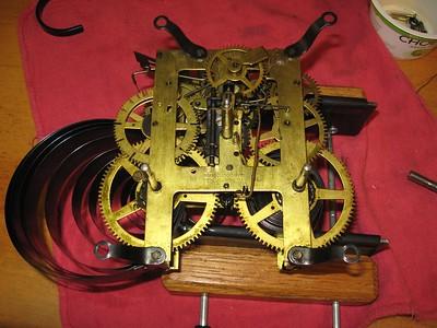 Ingraham Black Mantel Clock Made October 1906