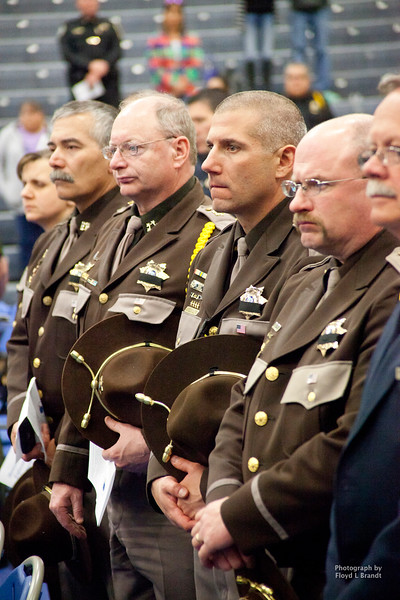 Havre Daily News/Floyd Brandt  Police came from all over the state to Havre for the Montana Law Enforcement Memorial Monday