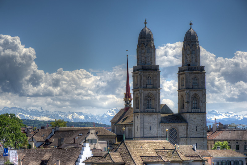 Grossmünster in Zurich, Switzerland
