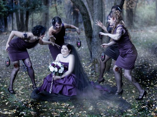 Gothic Wedding Artistic Photos by Mariana Roberts