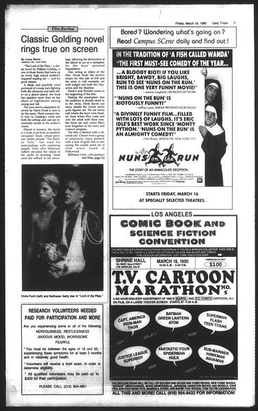 Daily Trojan, Vol. 111, No. 44, March 16, 1990