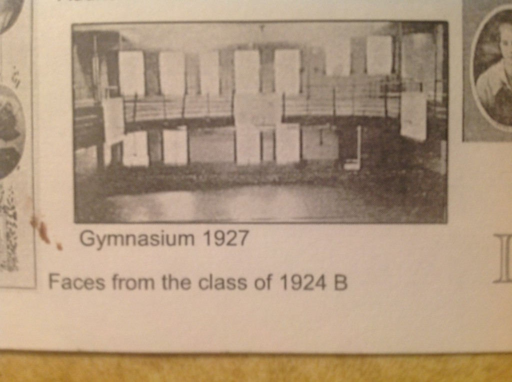. Historic photo provided by Jim Smith <br> An original gymnasium was built under ground level in the second Lorain High School at Washington and Sixth streets in Lorain.