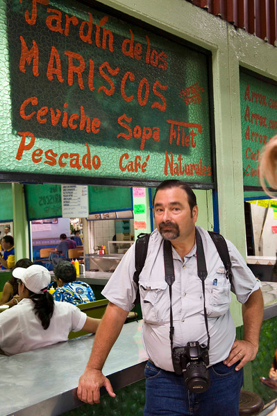 William, our guide for the week; market in San Jose.