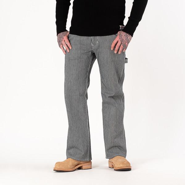 17oz Hickory Stripe Painter's Pants - Indigo-White--5.jpg