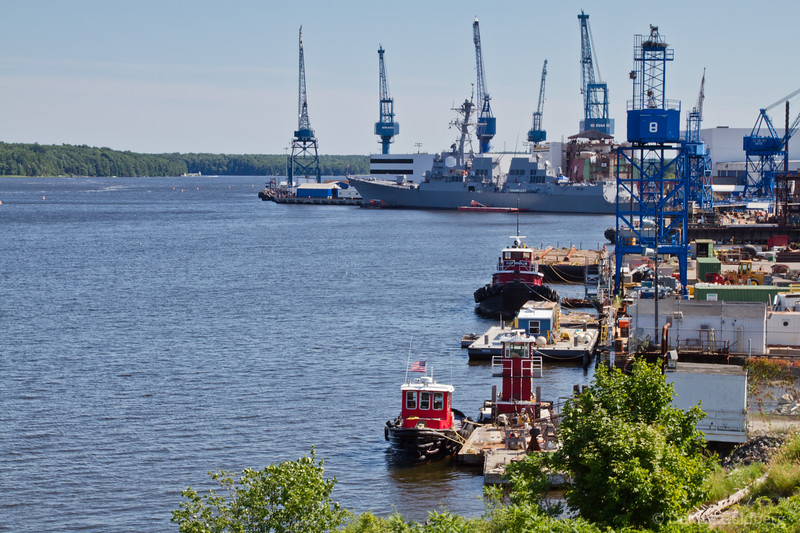 a view of Bath Iron Works