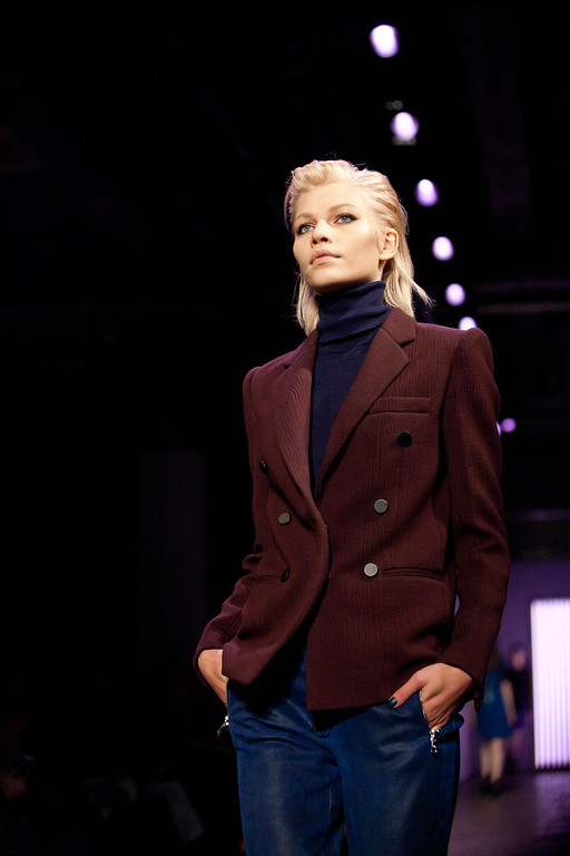 . A model walks the runway during the Rebecca Taylor Fall 2013 fashion show during Fashion Week, Saturday, Feb. 9, 2013, in New York. (AP Photo/Karly Domb Sadof)