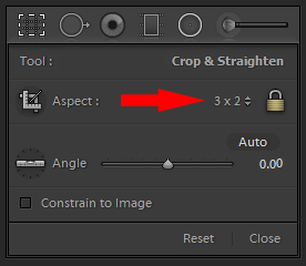 Setting Aspect Ration Crop
