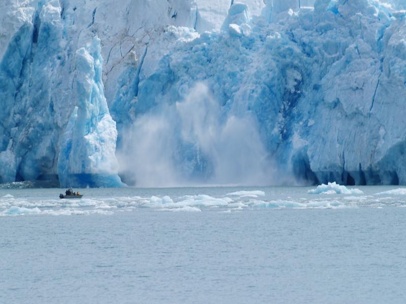calving at South Sawyer Glacier