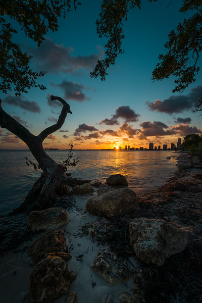 Sunset From Key Byscaine Florida