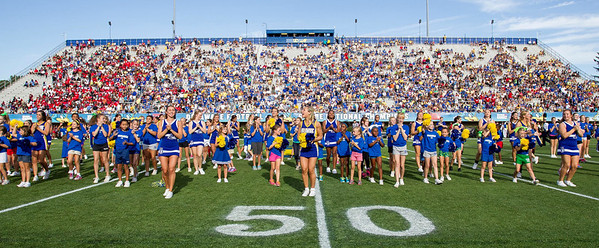 Youth Cheer halftime Del State  9-7-13