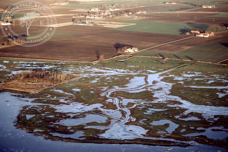 Salt marsh landscape in the southern part of the Öresund, between Hammarsnäs to Tygelsjö meadows in Southwest Skåne (12 December, 1987).   LH.0152