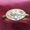 1.17ct Antique Moval Cut Diamond Bezel Ring, GIA E SI1 7