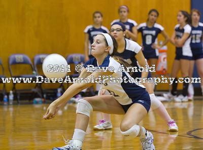 9/19/2011 - Girls Varsity Volleyball - Framingham vs Neewham
