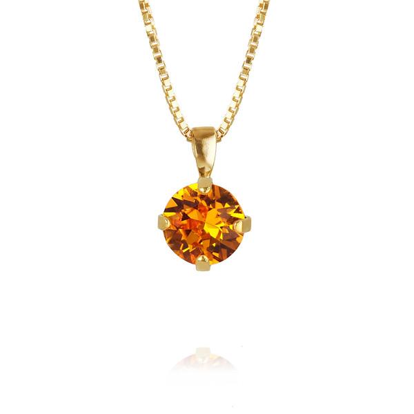 Classic Petite Necklace / Tangerine