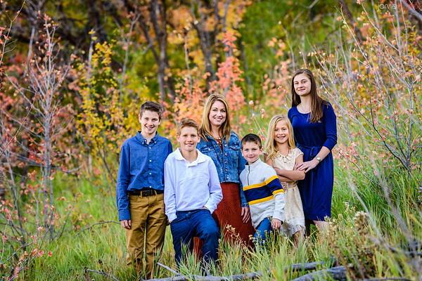 Rebecca and Kids fall pictures