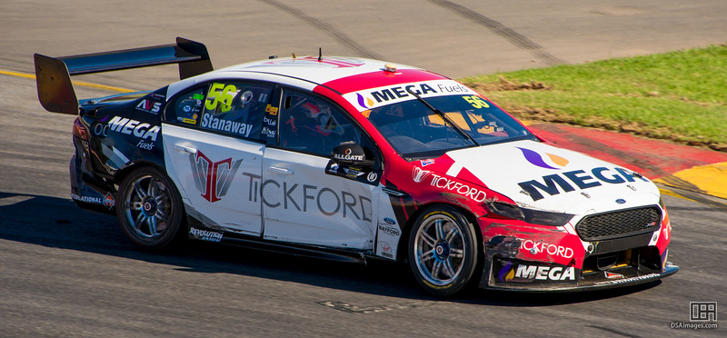Richie Stanaway with some battle damage