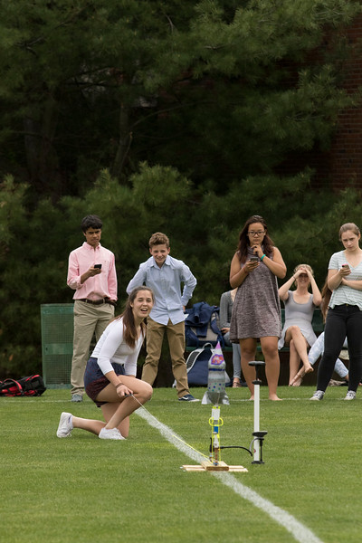 Gretchen Silverman's Algebra 1 class fires off water bottle rockets