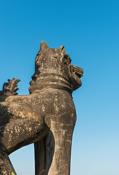 Chinthe Statue, Mrauk U, Myanmar
