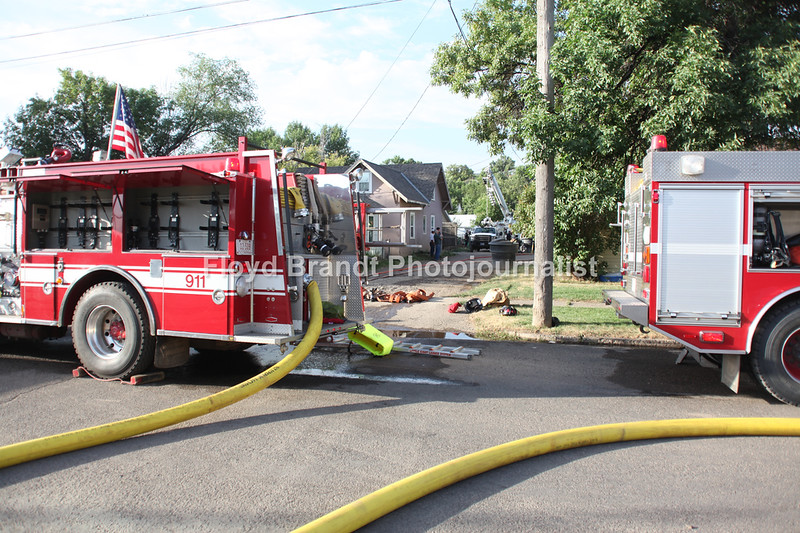 Havre Daily News / Floyd Brandt  Fire 11th Avenue and 4th Street