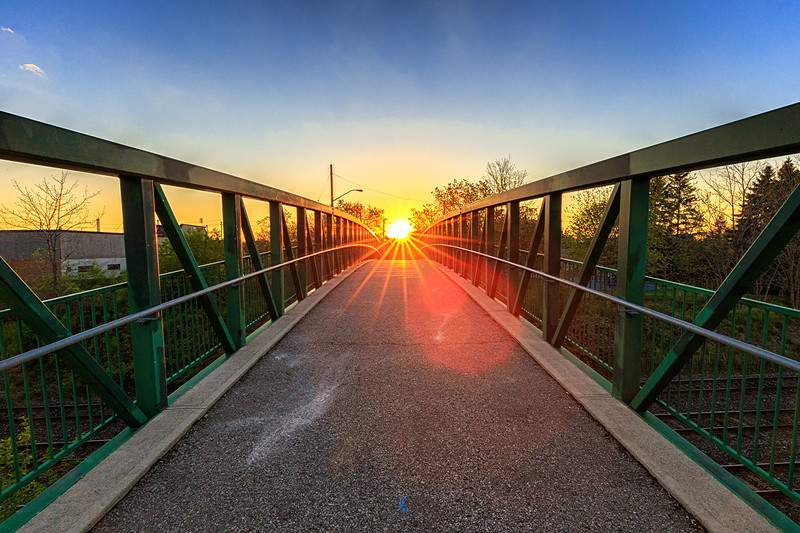 Day 142: Sunburst over the bridge