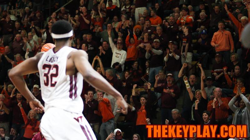 Fans celebrate Zach Leday's dunk in the second half. (Mark Umansky/TheKeyPlay.com)