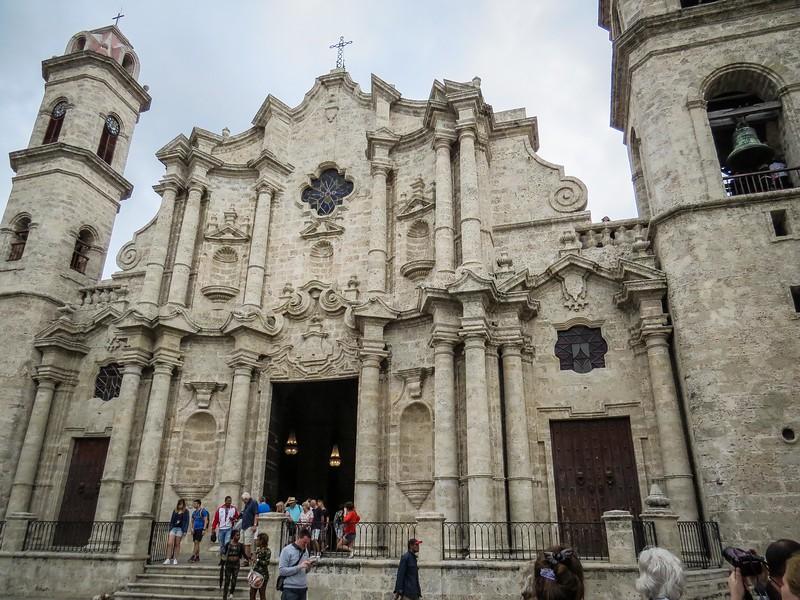 Havana Cathedral in Plaza de la Catedral in center of Old Havana.