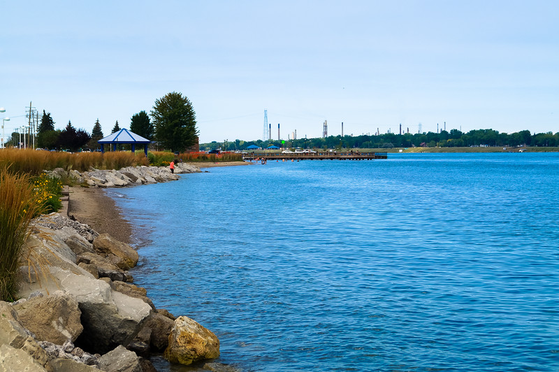 View of Marysville Beach along St. Clair