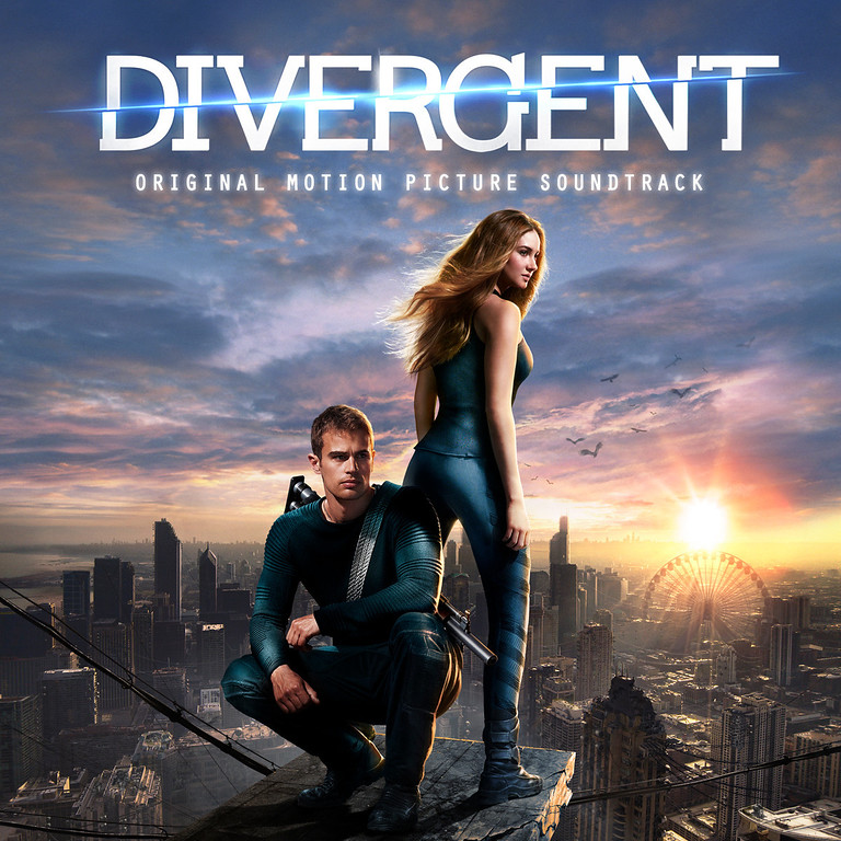 """. This CD cover image released by Interscope Records shows the motion picture soundtrack for \""""Divergent. (AP Photo/Interscope Records)"""
