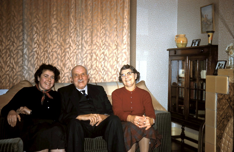1960-2-3 (26) Yours truly with Mr Smales & Miss Shelton @ Driffield, Yorkshire.JPG