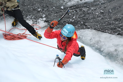 Ice Climbing with Brett and Emily