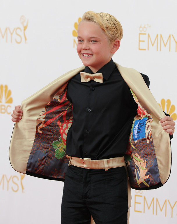 . Mason Vale Cotton on the red carpet at the 66th Primetime Emmy Awards show at the Nokia Theatre in Los Angeles, California on Monday August 25, 2014. (Photo by John McCoy / Los Angeles Daily News)