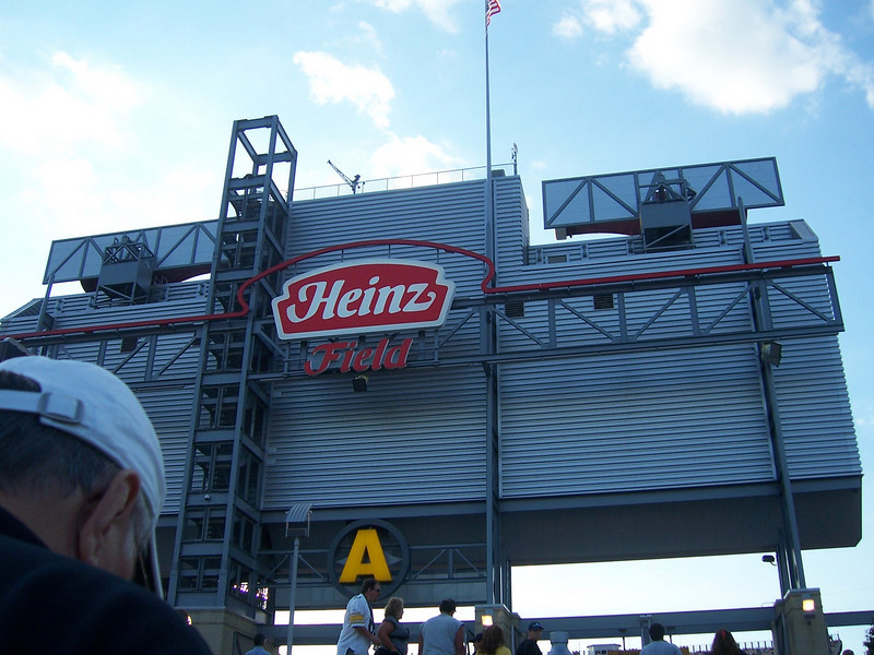 Looking around Heinz Field.