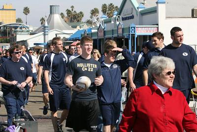 BYU Rugby Team visits Santa Monica Pier