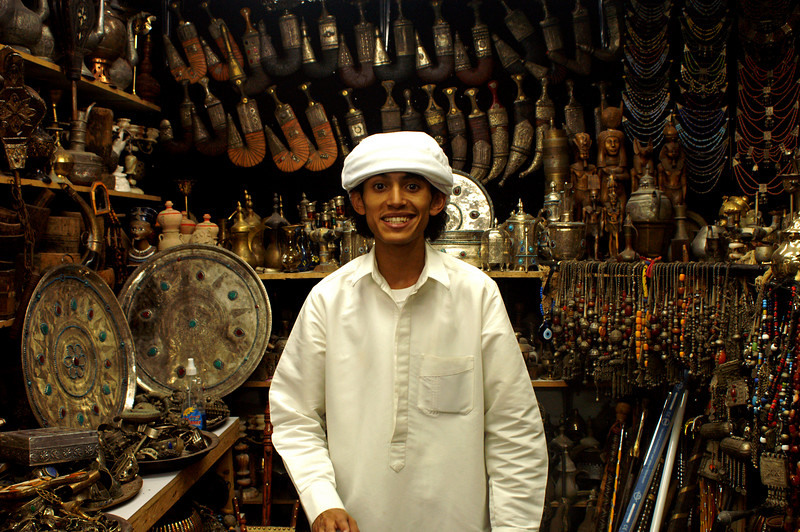 A Yemeni merchant who will start his studies in Berlin next year...
