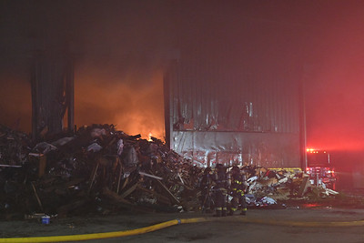 Yaphank- Working Fire at Winter Bros Recycling