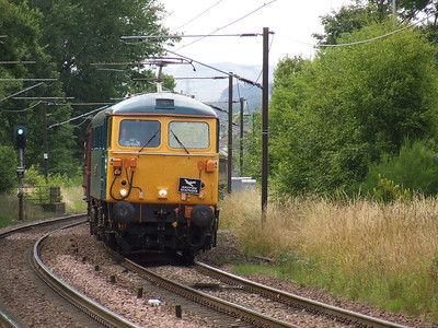 Electric Scot on Working 1Z85 At Johnstone, 11th July 2009
