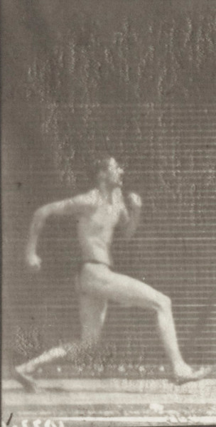 Man in pelvis cloth jumping and kicking