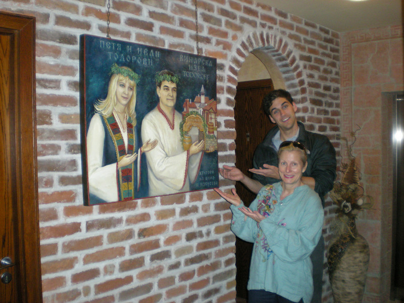Why gets icons painted of themselves???   Bulgarian winery owners apparently...