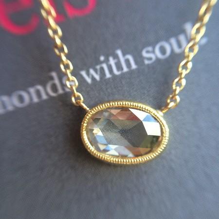 .52ct Oval Rose Cut Diamond Pendant, Yellow Gold