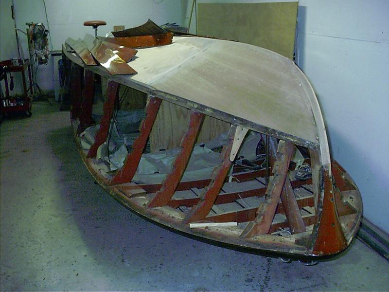 Port side battens removed.