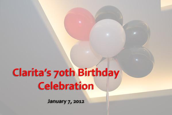 Clarita's 70th BD Gallery
