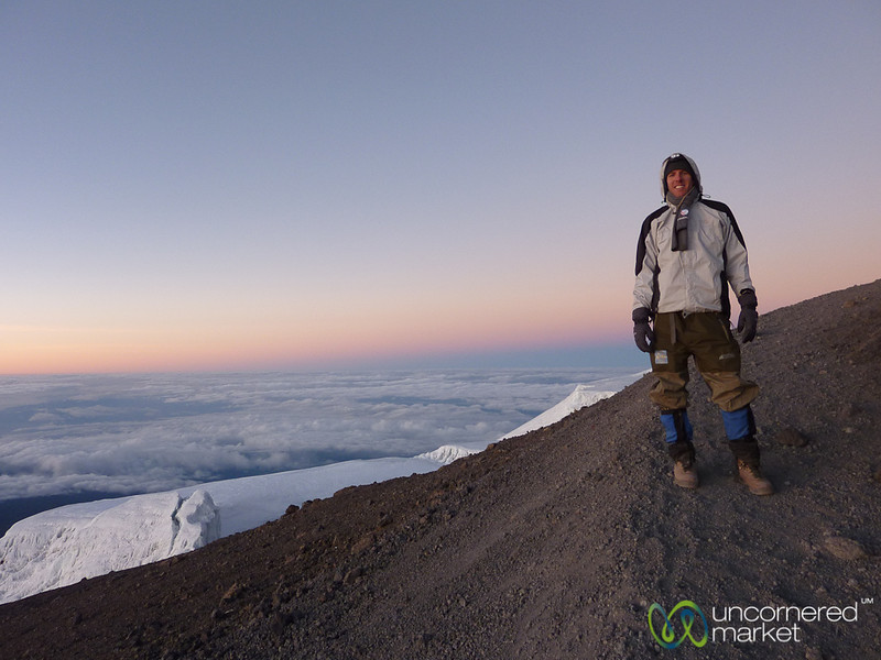 Dan at the Top - Mt. Kilimanjaro, Tanzania