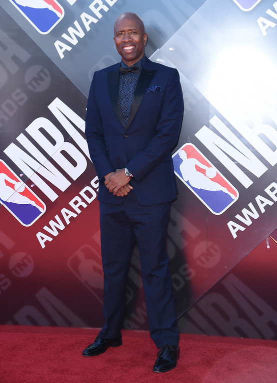 . Kenny Smith arrives at the NBA Awards on Monday, June 25, 2018, at the Barker Hangar in Santa Monica, Calif. (Photo by Richard Shotwell/Invision/AP)