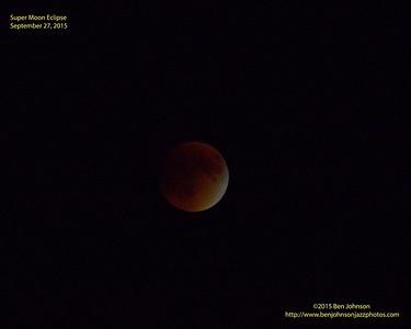 Super Moon and Total Lunar Eclipse September 2015