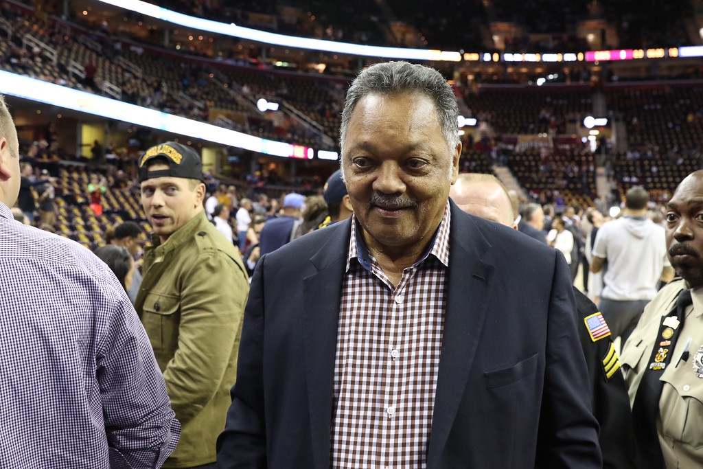 . Tim Phillis - The News-Herald Jesse Jackson before Game 3 of the NBA Finals between the Cavaliers and Warriors on June 7 in Cleveland.