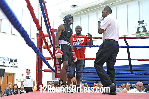 Bout #2:   Deshawn Champion, Red Gloves, Columbus vs Hamza Abedrabo, Blue Gloves, Cleveland, 160 Lbs