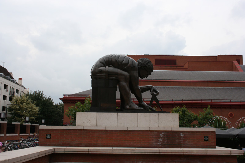 Newton measuring the Earth at the British Library.