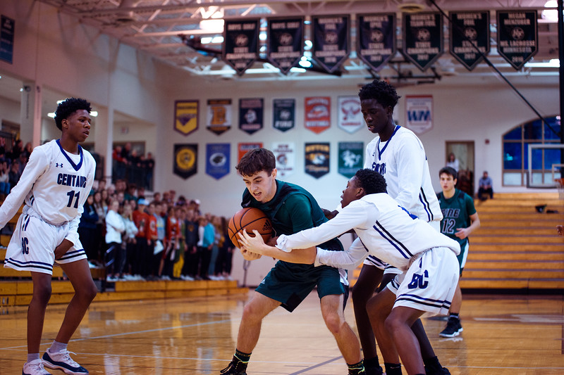 Holy Family Boys Varsity Basketball vs. Brooklyn Center, 12/5/19: Sam McNulty '20 (2)