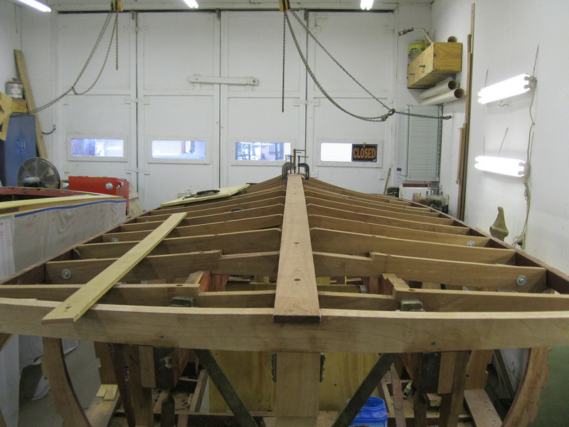 Rear view of new keel installed.